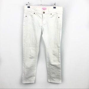Lilly Pulitzer worth skinny resort white jeans